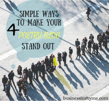 4 simple ways to make your poetry blog stand out